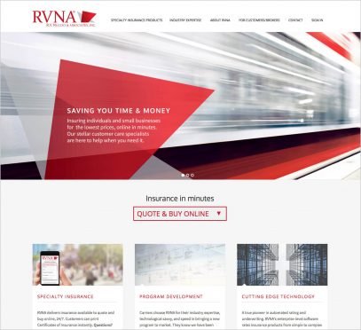 RVNA New Website - Content Strategy, Writing, UX and Website Design, WordPress Implementation